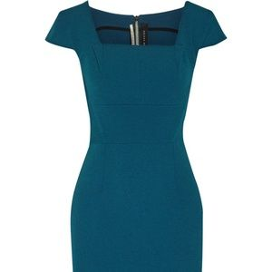 Roland Mouret Maltock stretch-crepe blue dress 6